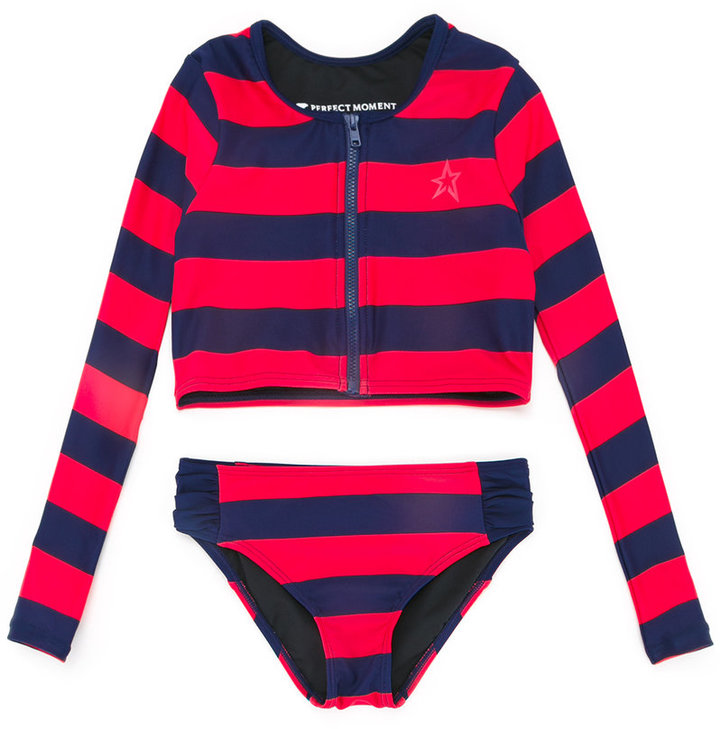 PERFECT MOMENT KIDS - RASH GUARD TWO-PIECE SWIM SET