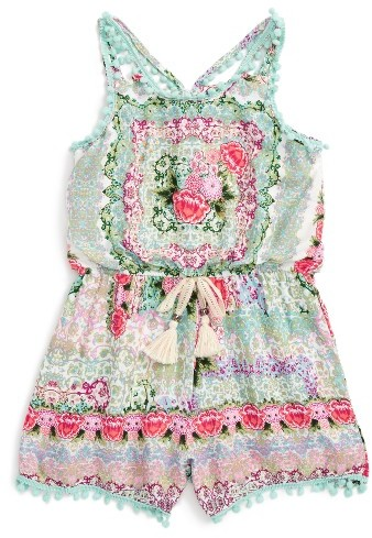Toddler Girl's Truly Me Floral Romper
