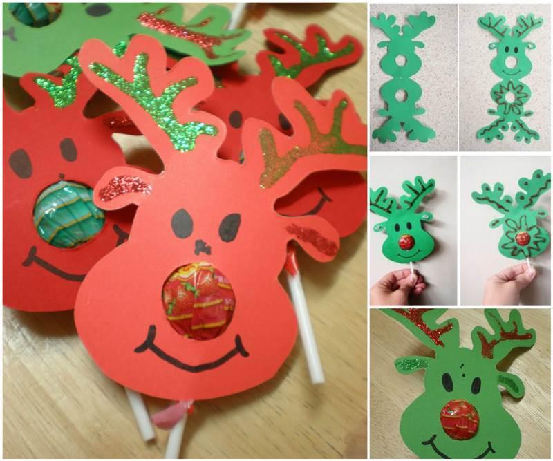 Creative Ideas DIY Rudolph-Reindeer Lollipops