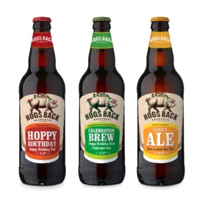 Exclusive Personalised Hogs Back Beer Trio