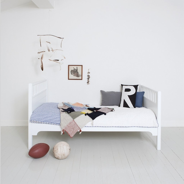A classic and simple Junior Children's bed in a Nordic design made by Oliver of Denmark