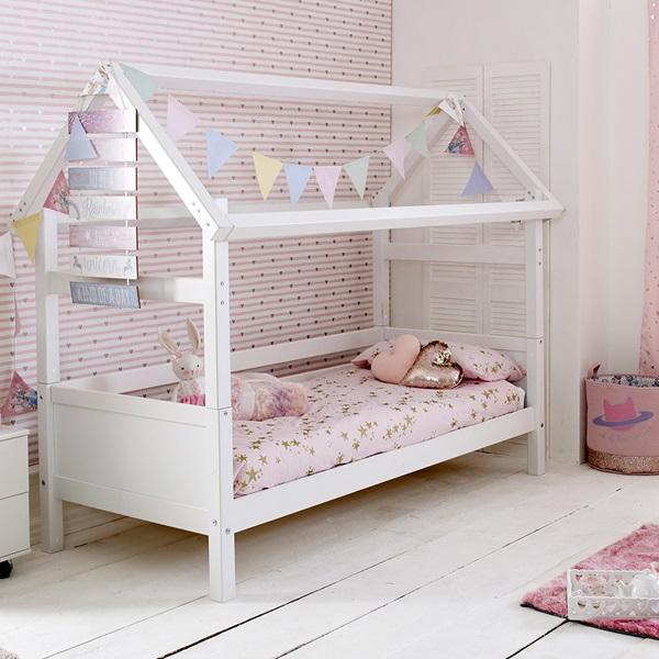 FLEXA NORDIC KIDS HOUSE BED FRAME 1 in White