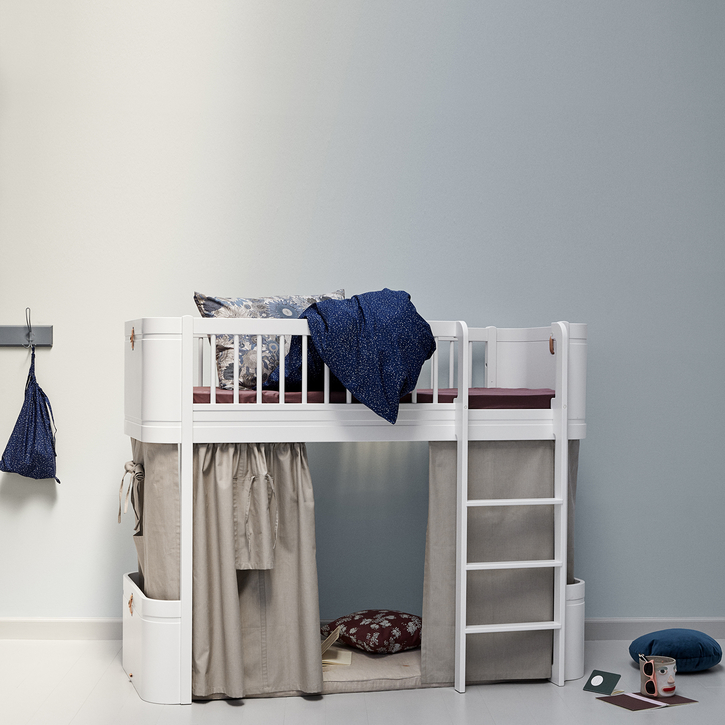 Junior Size Loft Bed in White by Danish designers Oliver Furniture