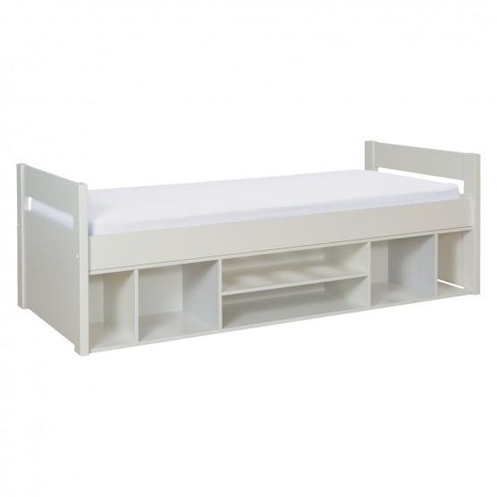 Kids' White EU Single Storage Bed