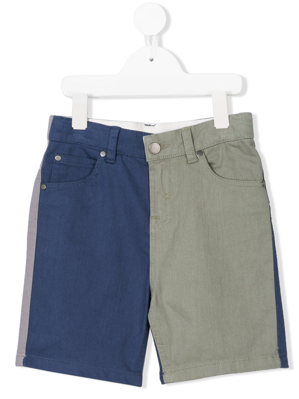 Stella Mccartney Kids color block denim shorts