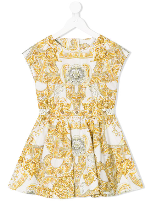 Young Versace baroque-print dress