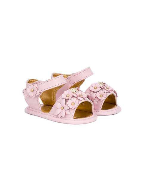 Young Versace floral embellished sandals
