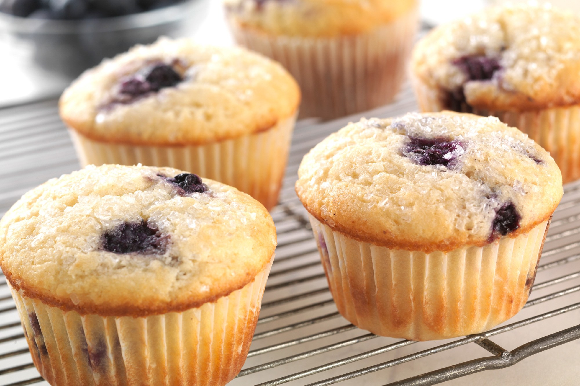 Lunch Box Blueberry Muffins