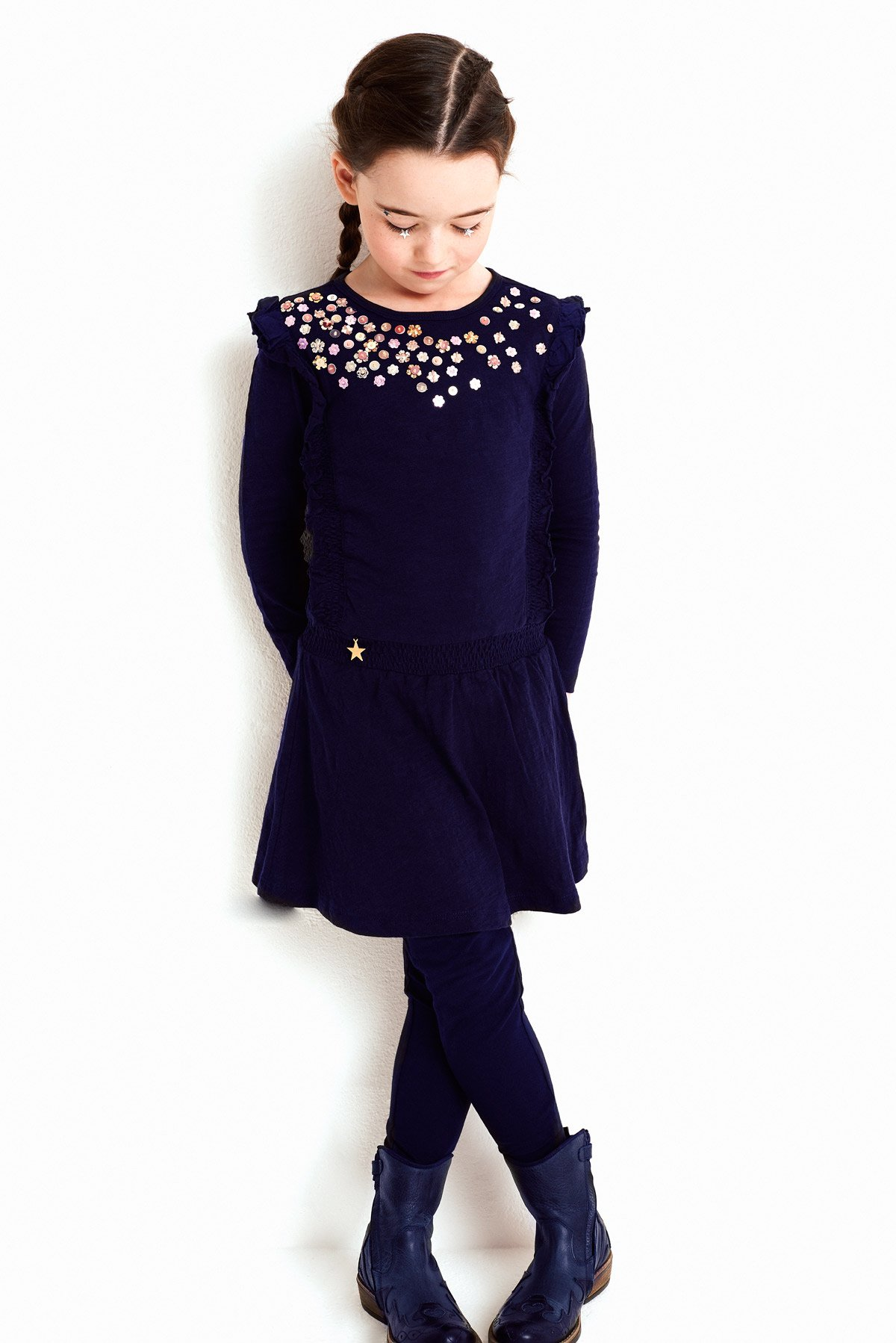 Mim-Pi Girls Navy Blue Sequin